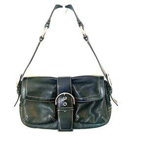 Authentic Black leather coach bag.